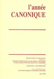 L'Année canonique
